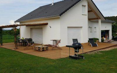 Terrasse bois à Remiremont