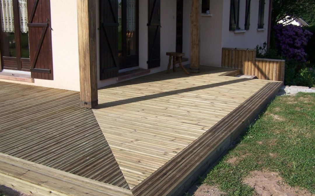 Création de terrasse bois dans les Vosges