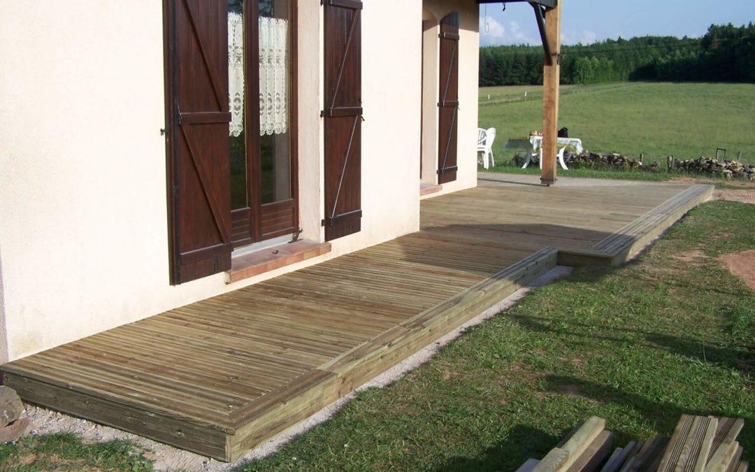 Terrasse bois à Epinal