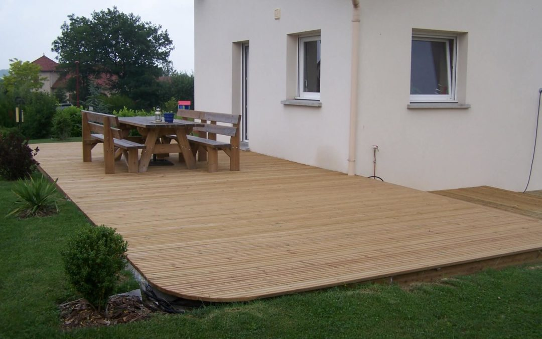 Terrasse bois à Gérardmer
